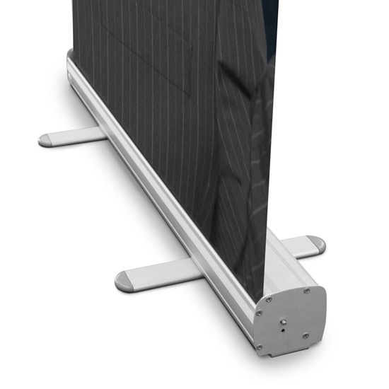 pull up display stand foot front